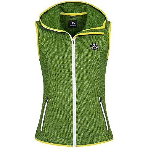 GIESSWEIN Merino Weste Stella - Ärmellose Damen Jacke aus Merinowolle, Frauen Walk Gilet mit Kapuze, Atmungsaktive Sport Bekleidung