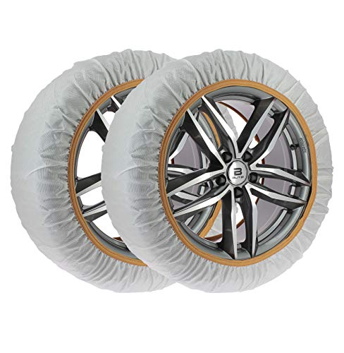CAR2TOP Chaussette Textile chaîne à Neige Taille L