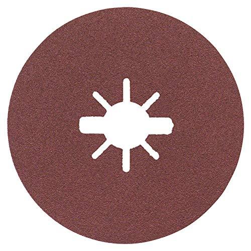 Bosch Professional Fiberschleifscheiben Expert (für Metall, X-LOCK, R444, Ø125 mm, Körnung 100, BohrungsØ: 22,23 mm)