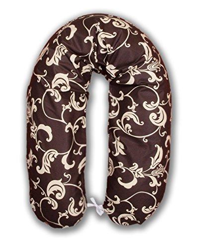 Amilian® Stillkissen MEGA WEICH Lagerungskissen Seitenschläferkissen ink.Bezug 170cm NEU XXL Schokolade