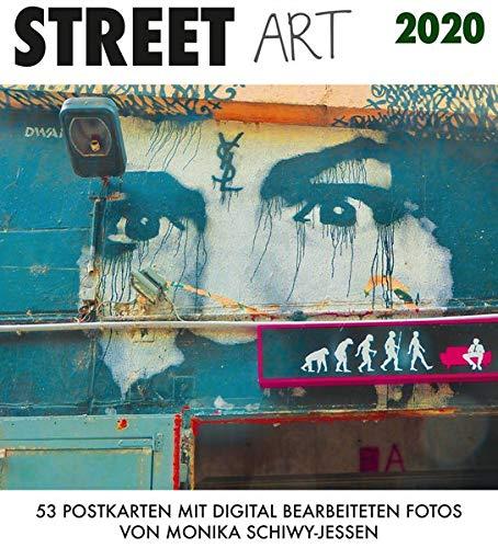 Street Art 2020: 53 Postkarten mit digital bearbeiteten Fotos von Monika Schiwy-Jessen