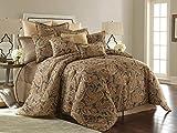 Sherry Kline Venetian Comforter Set, Queen, Rust, Charcoal