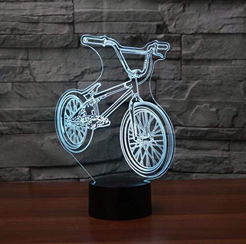 SFALHX Luces nocturnas 3D Bicicleta 7 colores Cambio con Mando a distancia...