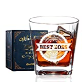 Boss Gifts for Men, Whiskey Glass, Old Fashioned Glass, Rocks Glass, Perfect Boss Idea for Men/Male in Boss Day, Birthday, Christmas, Appreciation, Office-BEST