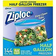 Ziploc 1/2 gallon Freezer Bags, 144 Count (Pack of 36), Original Version