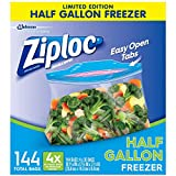 Ziploc 1/2 gallon Freezer Bags, 144 Count (Pack of 36), Original Version