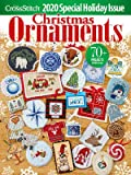 Christmas Ornaments 2020 Just Cross Stitch Magazine with Free Christmas Embellishment and Ornament Ribbon