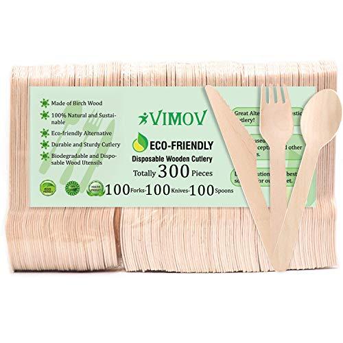 VIMOV 300 Piezas Cuberteria desechable