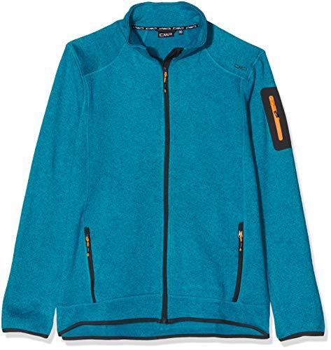 C.P.M. Gebreide jas van fleece, gemêleerd, voor heren