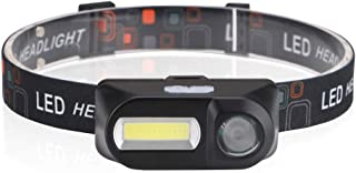 ACAMPTAR COBストロングヘッドライト USB充電ヘッドライトLED屋外キャンプ釣りヘッドライト キャンプナイト釣りライト