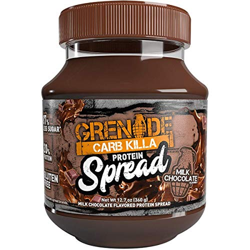 Grenade Carb Killa Protein Chocolate Spread | 7g High Protein Snack | High Protein Low Sugar | Gluten Free No Stir | Milk Chocolate, 12.7oz