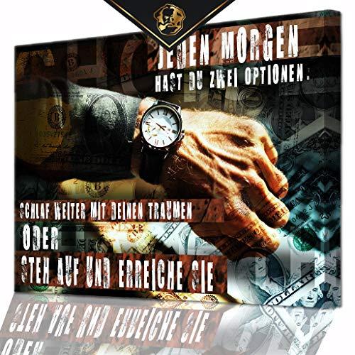 DotComCanvas® XXL Motivation-Wandbild für Erfolg | Leinwand direkt Aufhangbereit You Have Two Choices Deutsch (100 X 75 cm)
