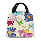 Yuanmeiju Effortless Pink Floral 840 Kids Lunch Box for Men for School Office Picnic Gym