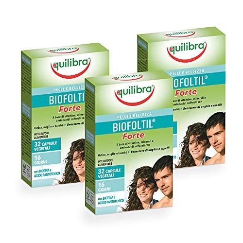 Equilibra Integratore Alimentare Biofoltil Forte, Confezione da 3 Pezzi x 32 Capsule