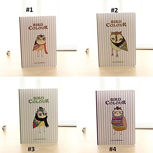 Geschenken UK® Leuke Uilen in Winter Sjaal B5 Size Grote Notepads Notitieboeken notities Pad Ontwerp 2