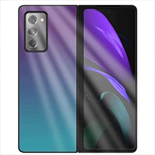 ZHANGDA Cell Phones Accessories Glass Case for Samsung Galaxy Z Fold 2 5G [Scratch-Resistant Tempered Glass] Anti-Scratch ...