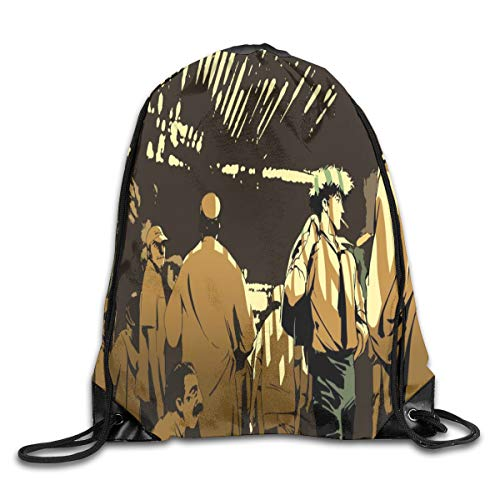 cowboy bebop Drawstring Backpack Bags Gym Sports Customized String Bags for Women Men Teens Large Waterproof Cinch Bag Heavy Duty Sackpack Shoulder Bag For Travel/Sport/Gym/Shopping/Yoga