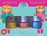 Suncoat Girl egg-spiration Kit de 3esmalte de uñas al agua para niño