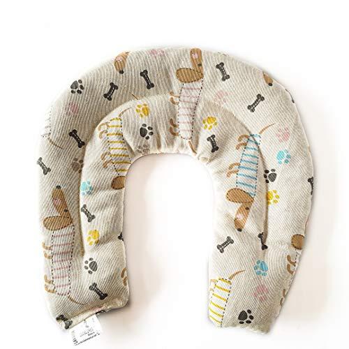 Decolores   Saco Térmico para el cuello. Almohada Cervical de frío y calor. Cojín Térmico Semillas con Estampado de Perros con diferentes aromas. Para calentar en microondas.