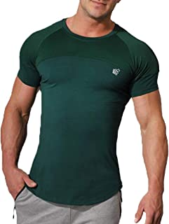 Jed North Men Gym Fitness Workout Performance Lightweight Bodybuilding Running Breathable Fitted T-Shirt