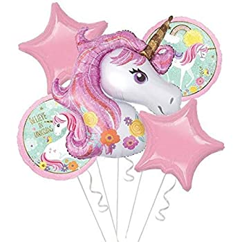 Rozi Decoration® Unicorn Theme Foil Balloon Set of 5