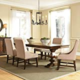 Liberty Furniture Industries Armand 7 Piece Trestle Table Set, Brown