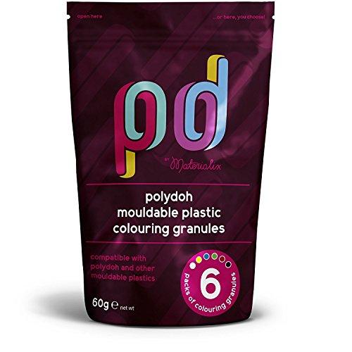 Gránulos de pigmento para plástico moldeable Polydoh [también compatibles con polymorph, plastimake e instamorph]