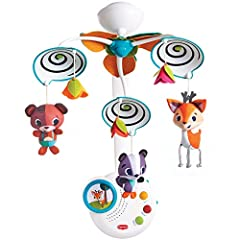 ENGAGE AND DELIGHT BABY - Spinning black and white spirals delight baby as they encourage visual development SOOTHE AND AMUSE - 20 minutes of continuous classical music to soothe baby.Mobile grows with your baby converting into a stand-alone music bo...