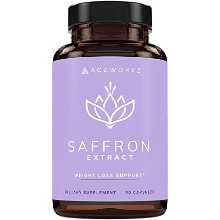 100% Pure Saffron Extract for Healthy Weight Loss - Natural Appetite Suppressant - Metabolism Booster - Energy & Mood Enhancer - Diet Pills for Women and Men (90 Capsules)