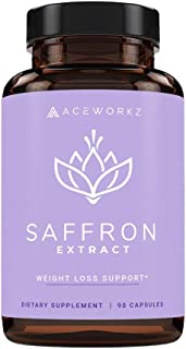 100% Pure Saffron Extract for Healthy Weight Loss - Natural Appetite Suppressant - Metabolism Booster - Energy & Mood Enha...