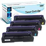 Aseker Compatible Cartuchos de Tóner para Ricoh SP C250 C250DN C250E C250SF C250SFw C261SFN C261SFNW C261DNW Impresoras, Alto Rendimiento 2300 Páginas, 407539 407540 407541 407542 (BK/C/M/Y)