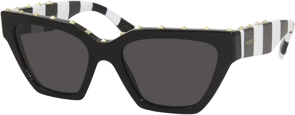Valentino, occhiali da sole per donna, squadrato in acetato, con strass sul frontale VA 4046 5153/87