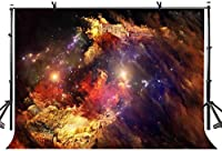 HD 7x5ft星雲の背景夢のような星雲の山の城の写真の背景夢のような星雲の山の城の写真の背景LYGE1055