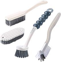 4Pcs Multipurpose Cleaning Brush Set,Kitchen Cleaning Brushes,Includes Grips Dish Brush Bottle Brush Scrub Brush Bathroom ...