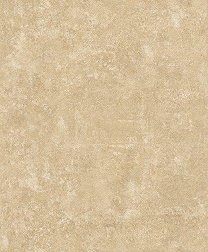 rasch Tapete 467581 aus der Kollektion Vincenza – Vliestapete in Beige im Beton-Design – 10,05m x 53cm (L x B)