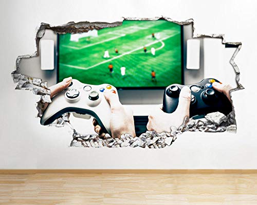 Pegatinas de pared Juego Hobby Cama TV Pegatinas de pared Pegatinas de pared Habitación de niños 3D Póster Arte 3D Mural 50x70cm