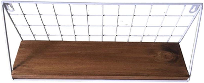 Der Organize Storage cabinets, Creative Iron Shelf Bathroom Wall Storage Rack Retro Frame. Storage Shelves (color   White)
