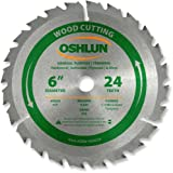 Oshlun SBW-060024 6-Inch 24 Tooth ATB General Purpose and Trimming Saw Blade with 1/2-Inch Arbor
