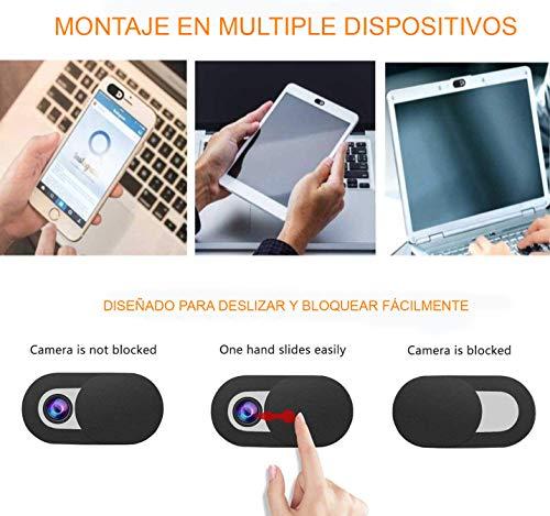 REY Cubierta Webcam Cover Slider Diseño Ultra Fino, Anti-Hacker, Camera Cover Tapa Webcam para Ordenadores, PC, Portátiles, Tablets y Móviles