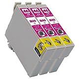 ICM46(M/マゼンタ)×3本セット [EPSON]エプソン 新互換インクカートリッジLED・残量表示付き (最新型ICチップ付き) 【A.I.S製品】