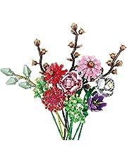 Dellia Bukett byggstenar modell, 999 delar anpassad bukett byggsats skapare blommor byggklossar, klämstenar kompatibla med Lego 10280 blombukett
