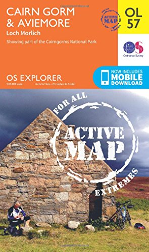 Price comparison product image OS Explorer ACTIVE OL57 Cairn Gorm & Aviemore (OS Explorer Map Active)