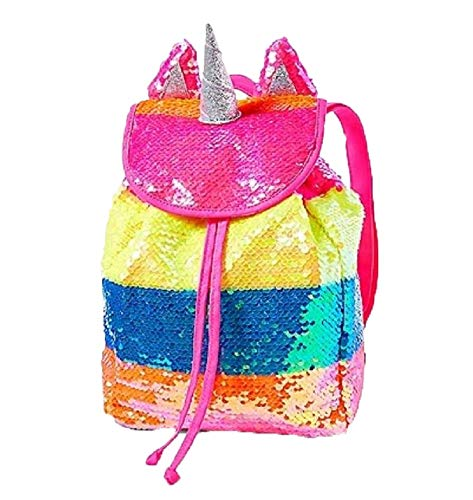 Justice Girls Rainbow Unicorn Mini Rucksack