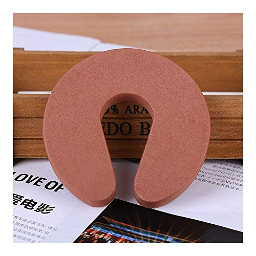 ZREED Corner Guards Foam Door Stopper Guards Finger Pinch Guard Safety Finger Protection 6 Pack for Child (Color : Cffee)