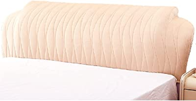Headboard Cover Queen Size for Wooden Upholstered Leather Bed Protector Washable Furniture Slipcover (Color : Beige, Size : 1.7m)