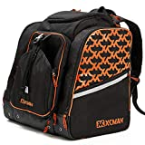 XCMAN Ski Boots and Snowboard Boot Backpack Bag, Excellent for Travel with Waterproof Exterior & Bottom,Orange
