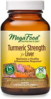 MegaFood, Turmeric Strength for Liver, Maintains a Healthy Inflammation Response, Vitamin and Herbal Dietary Supplement Ve...