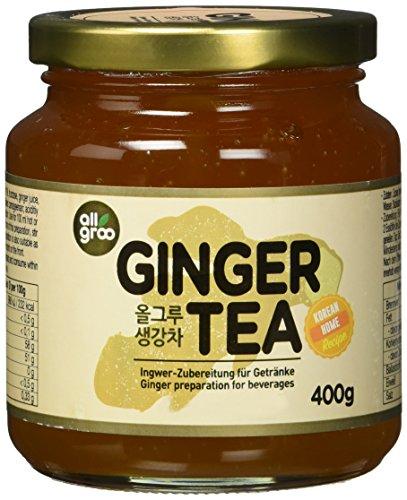 Allgroo Ingwer Tee — Ingwer Zubereitung für Tee oder als Brotaufstrich, vegan und glutenfrei (1 x 400 g)