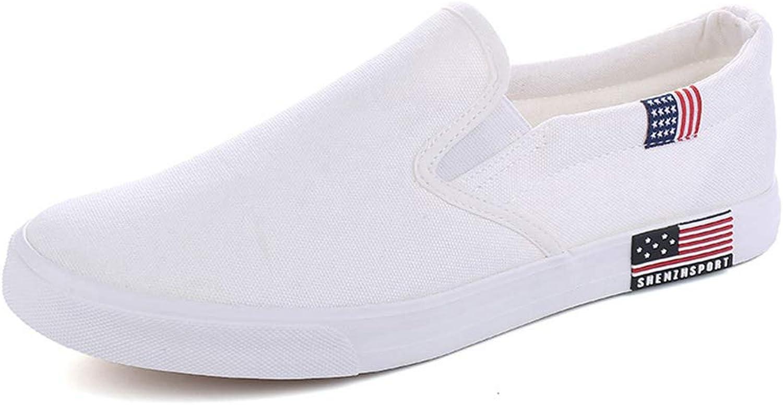 JOYBI Women Casual Canvas Loafers Slip-On Vulcanized Comfort Fashion Breathable Round Toe Flat shoes