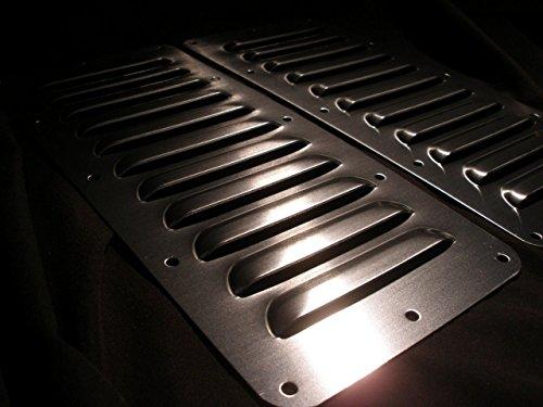 "RodLouvers Pair of Straight Aluminum 5"" 11 Louver Hood Panels (Bolt-On) Kit"